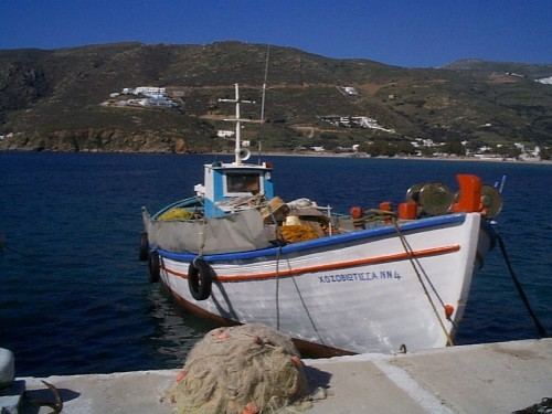 A classic Greek fishing boat.
